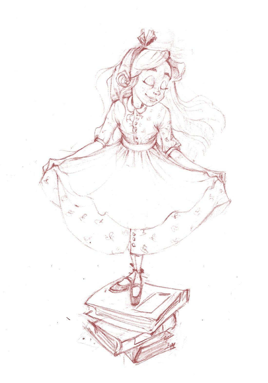 Alice, crayonné © Amandine Dugon