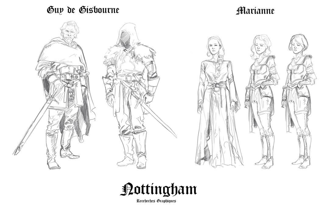 Nottingham, recherche de personnages © Dellac