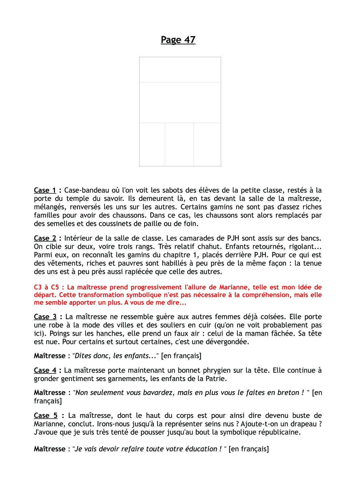 le Cheval d'Orgueil, scénario de la planche 47  © Soleil / Lizano / Galic