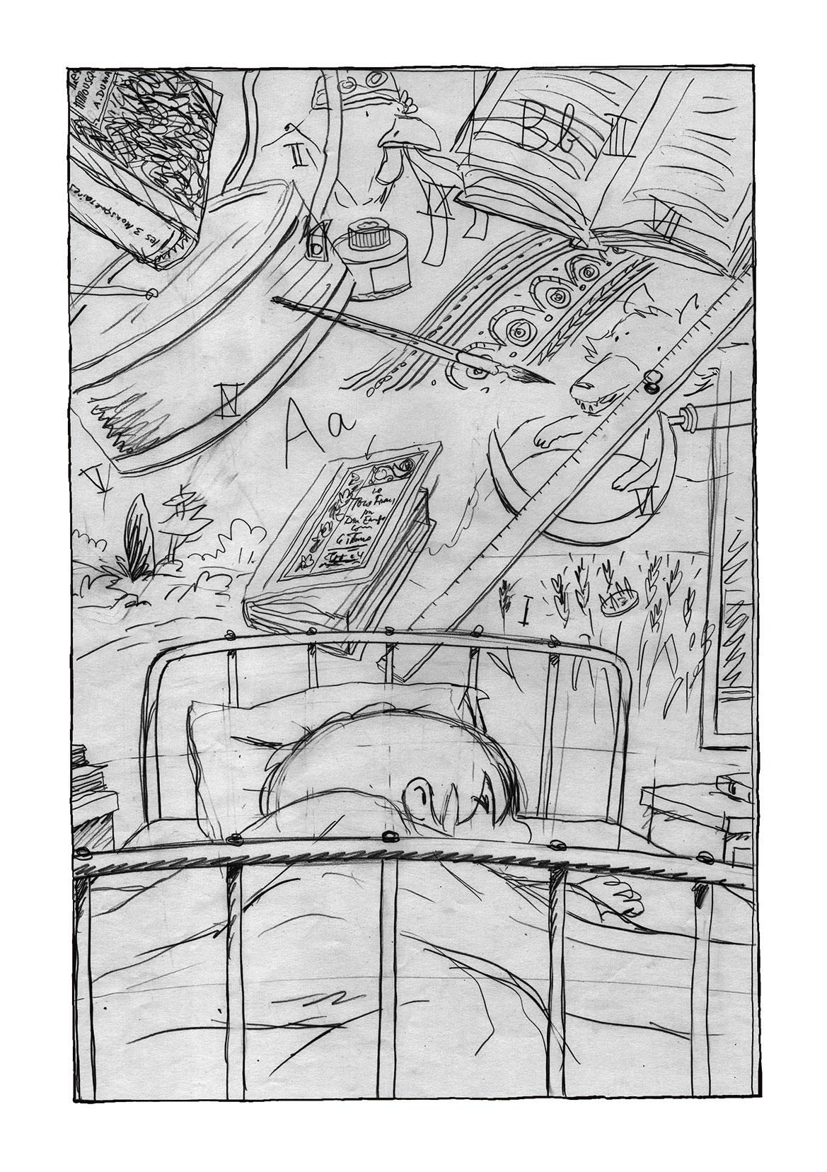 le Cheval d'Orgueil, crayonné de la page 122 © Soleil / Lizano / Galic