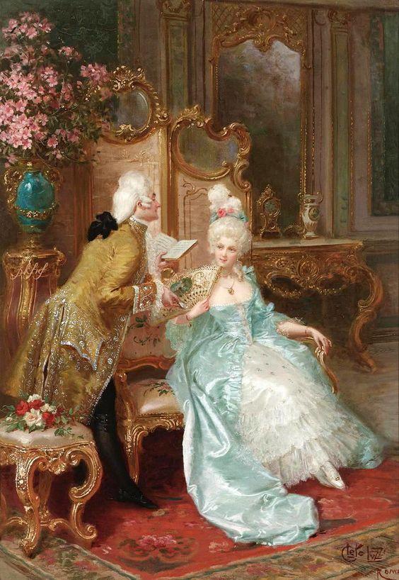 Peintures rococo & kitsch qui a servi à concocter certains décors traversés par les personnages, ou habits de lumière dont ils se vêtent.