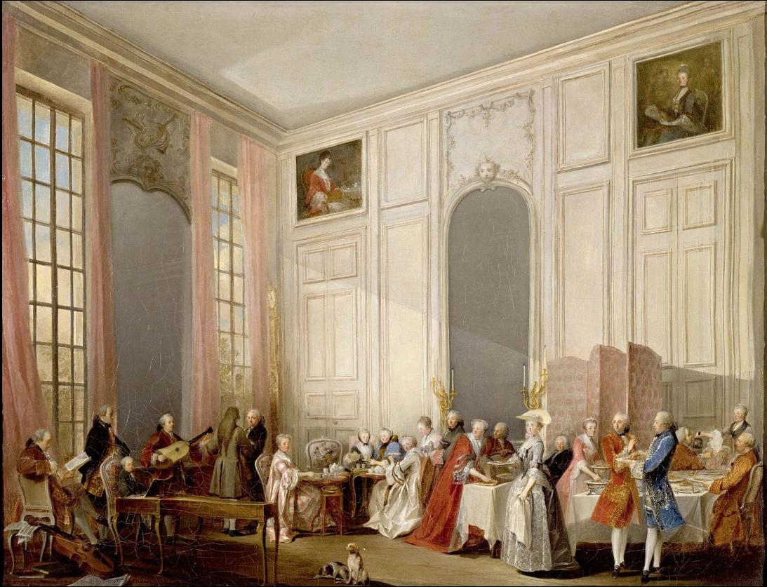 Pour certaines scènes de réception, j'imaginais des personnages écrasés dans un décor imposant, aux hauts murs ornementés.