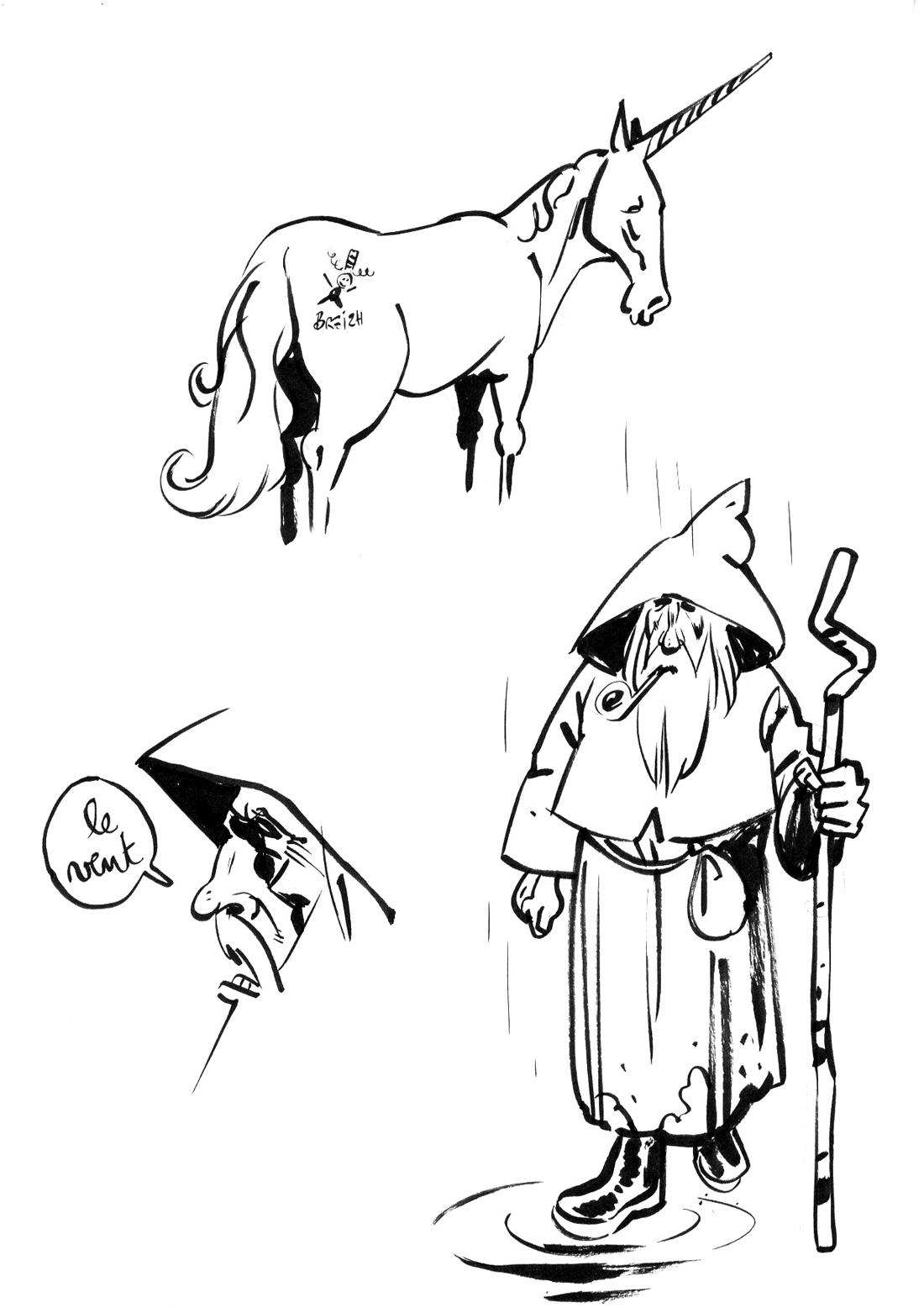 Santiagolf, recherche: Goudalf et la Licorne © B-gnet
