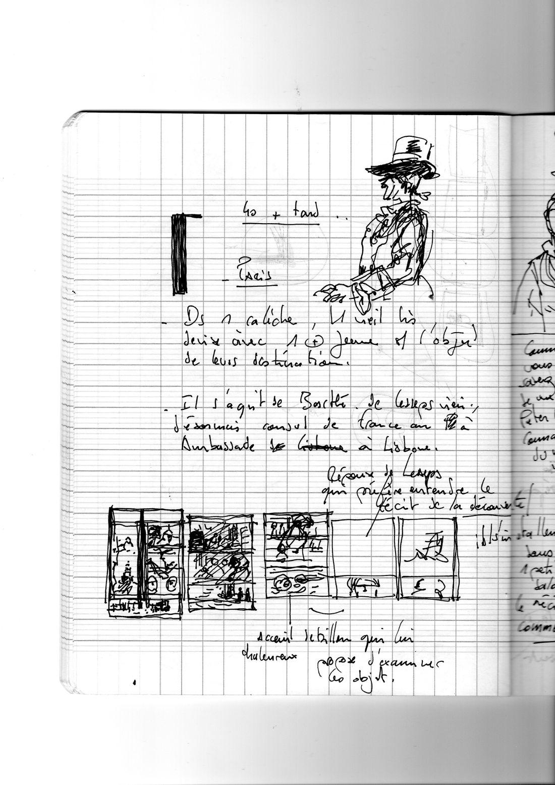 Peter Dillon, l'énigme Laperouse, scénario © Boris Beuzelin