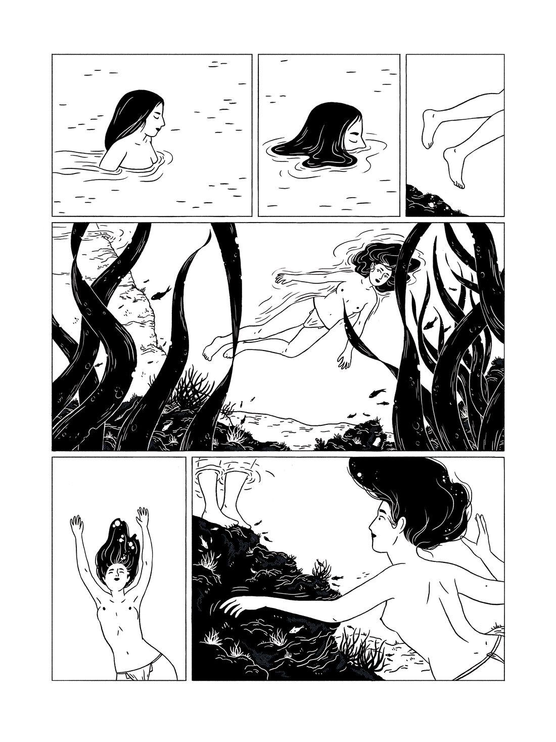 Ama - Le souffle des femmes, encrage de la planche 27 © Sarbacane / Becq