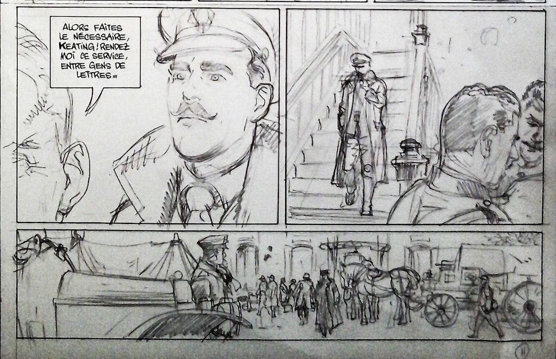 La ballade du soldat Odawaa, crayonné de la page 11 © Rossi / Apikian