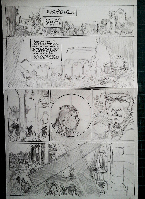 La ballade du soldat Odawaa, crayonné de la page 30 © Rossi / Apikian