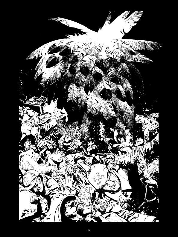 La ballade du soldat Odawaa, encrage de la page 9 © Rossi / Apikian