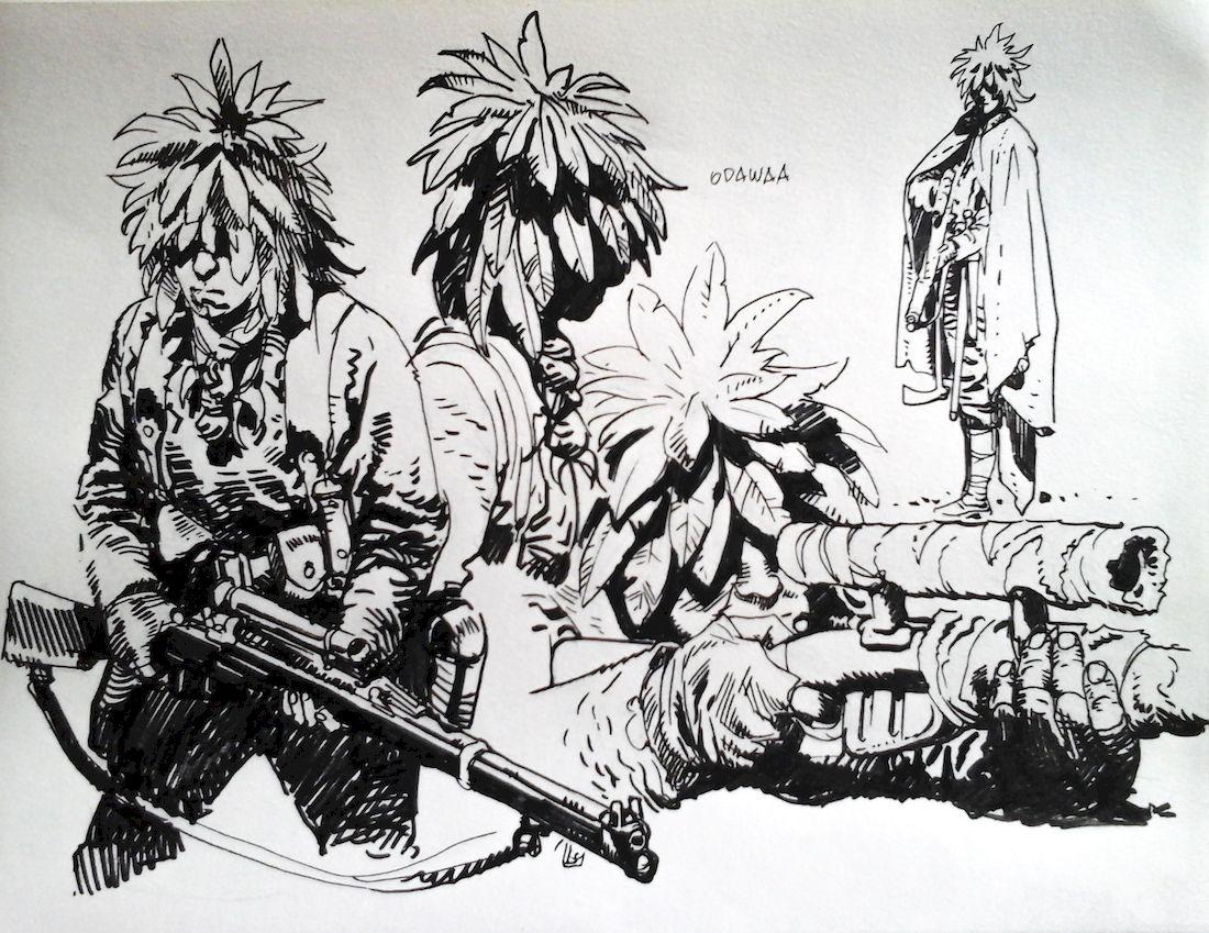 La ballade du soldat Odawaa, étude 30 © Rossi