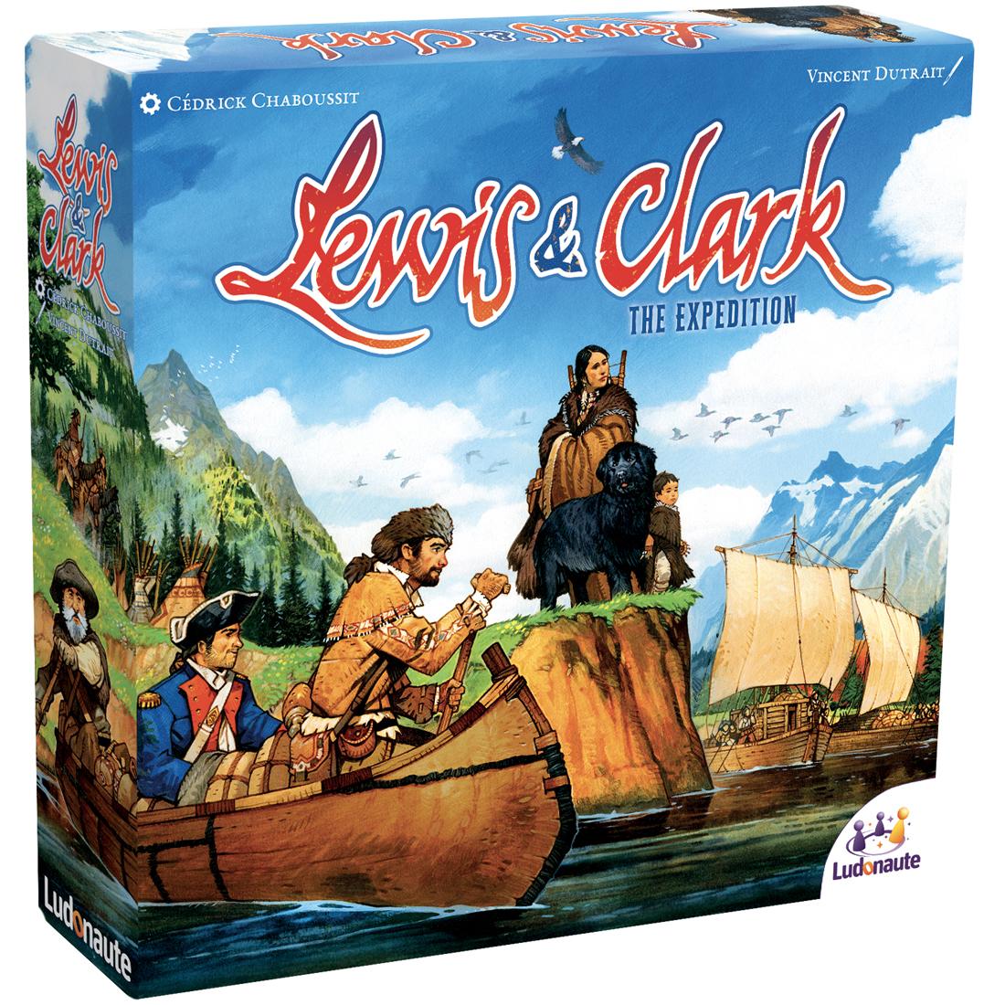Lewis & Clarck, illustration de la boîte de la nouvelle édition © Ludonaute