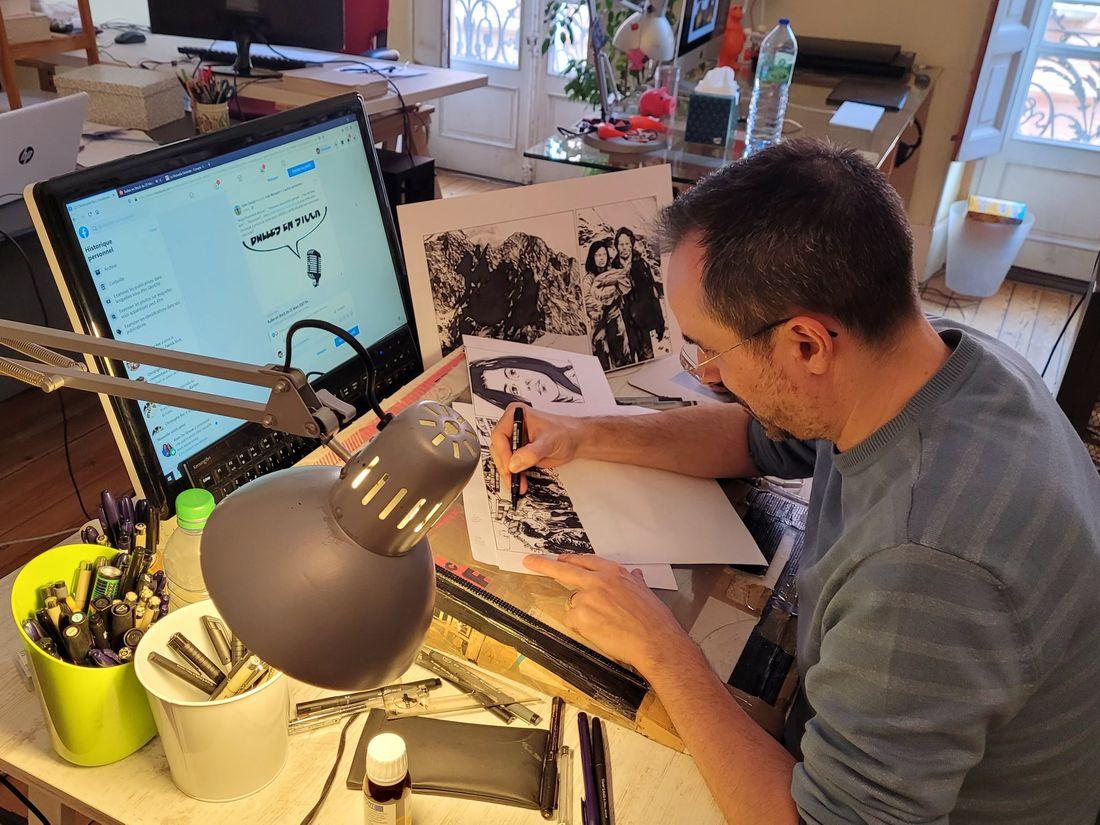 Christophe Bec, l'atelier de l'artiste