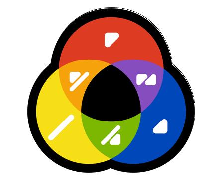 l'alphabet des couleurs de Miguel Neiva, les mélanges