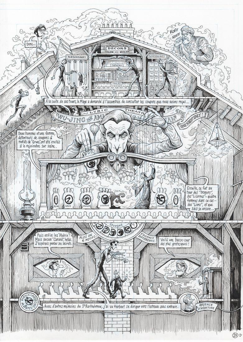 Dans la tête de Sherlock Holmes, planche du tome 1 © Ankama / Dahan / Liéron