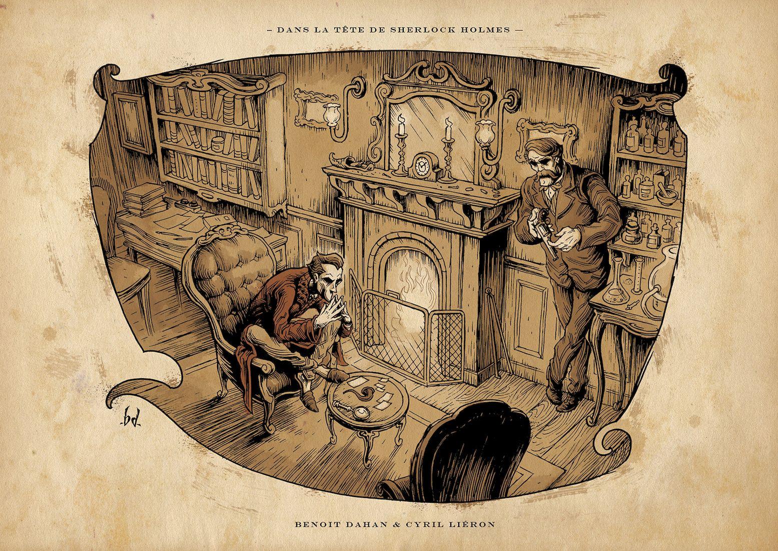 Dans la tête de Sherlock Holmes, ex libris  © Ankama / Dahan / Liéron / Dahan