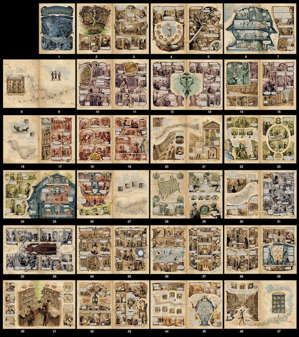 Dans la tête de Sherlock Holmes, montage des planches © Ankama / Dahan / Liéron / Dahan