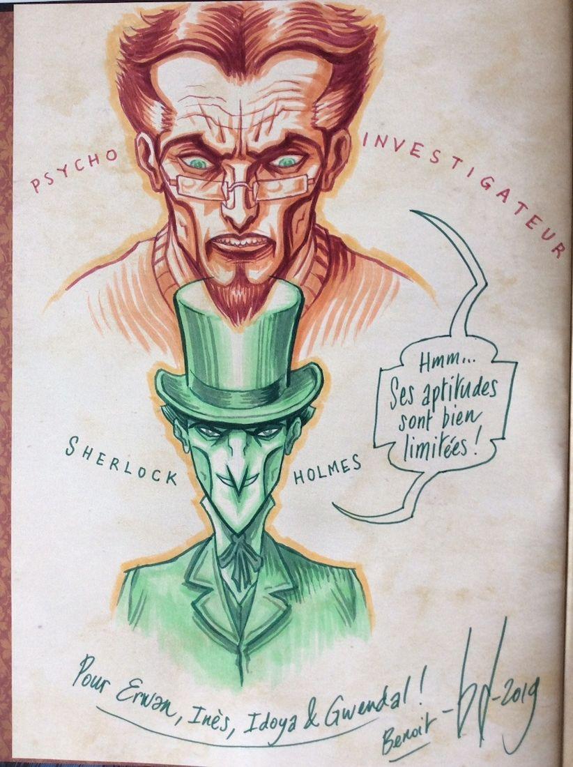 Dans la tête de Sherlock Holmes, une (somptueuse) dédicace © Ankama / Dahan / Liéron / Dahan