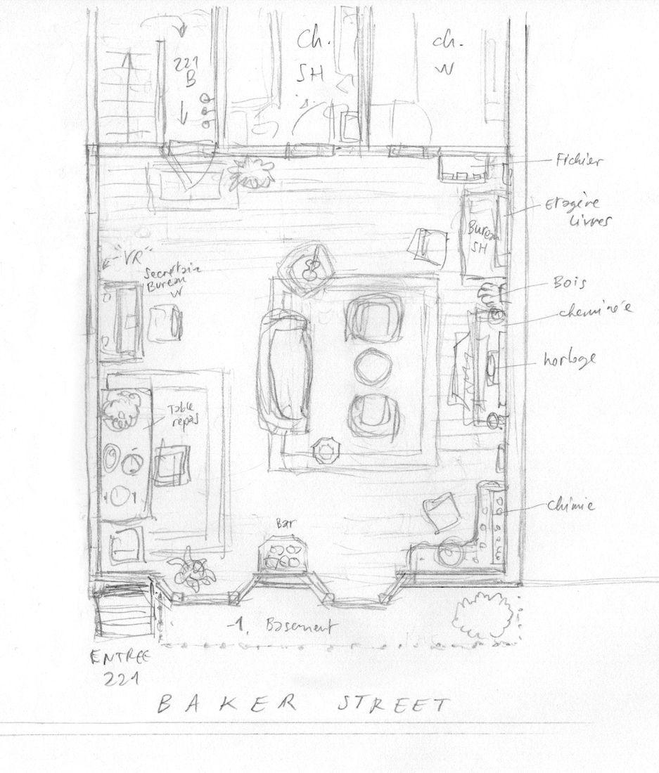 Dans la tête de Sherlock Holmes, le plan du 221b Baker Street © Ankama / Dahan / Liéron / Dahan