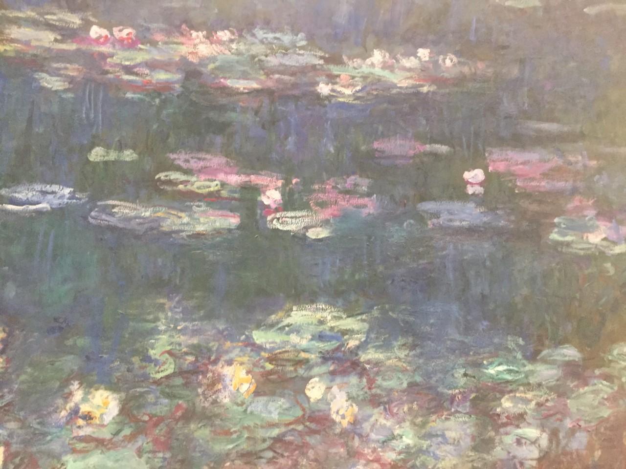 détails des Nymphéas de Monet, musée de l'Orangerie © bd otaku