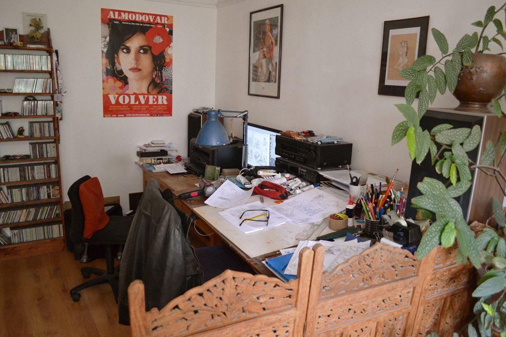 Atelier de l'artiste © Didier Cassegrain