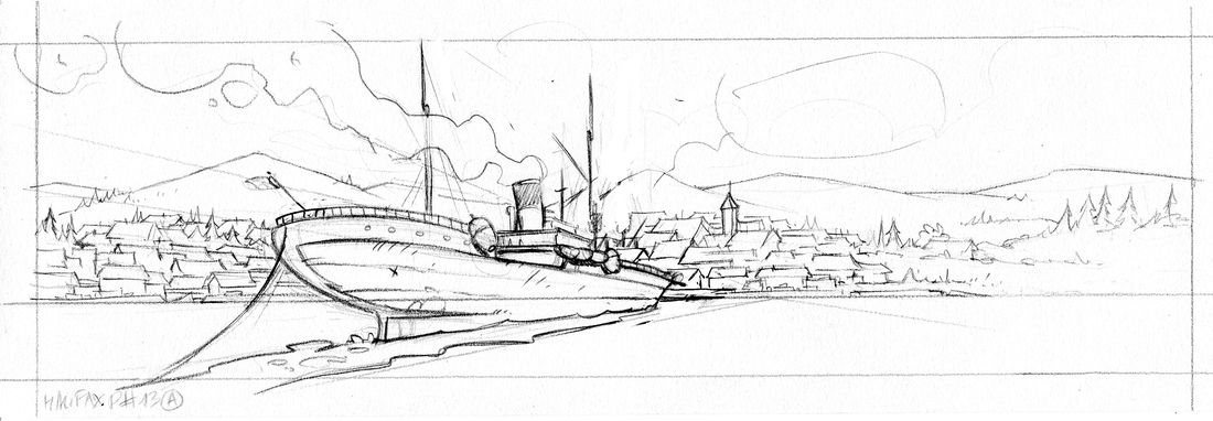 Halifax, mon chagrin, crayonné © Pascal Regnauld