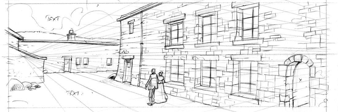 Halifax, mon chagrin, crayonné d'une case © Pascal Regnauld
