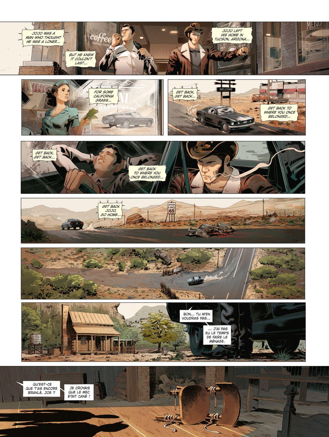 Hit the road, page 12 : Noir & Blanc © Glénat / Afif Khaled / Dobbs / Josie de Rosa