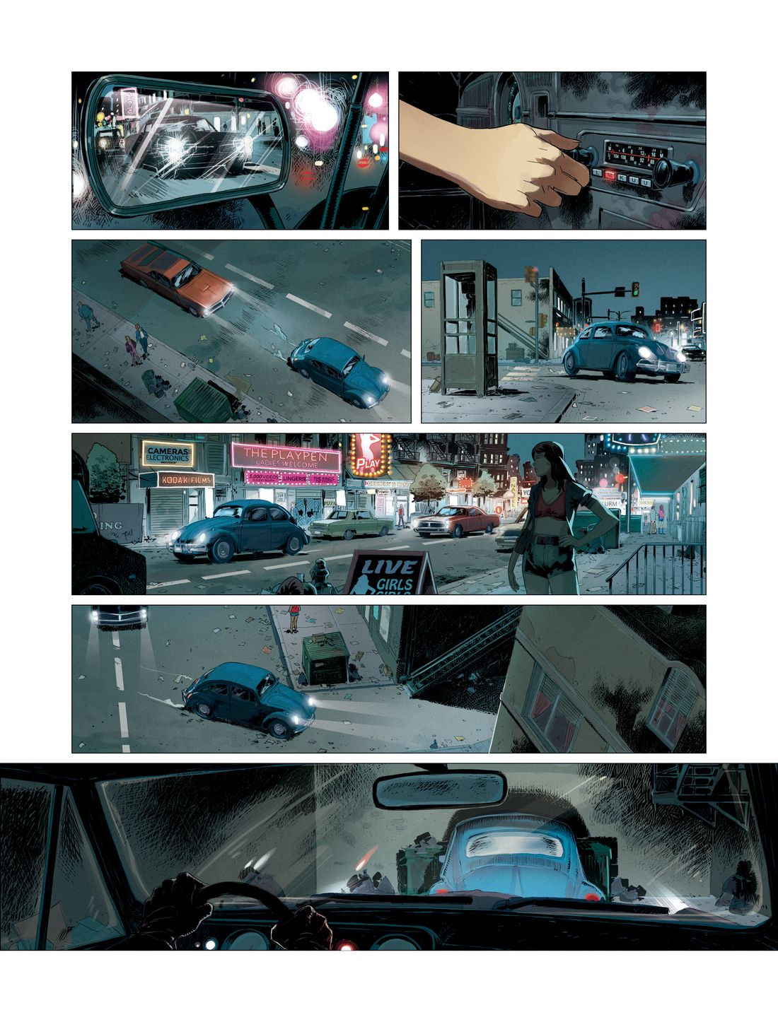 Hit the road, page 4 : couleur © Glénat / Afif Khaled / Dobbs / Josie de Rosa
