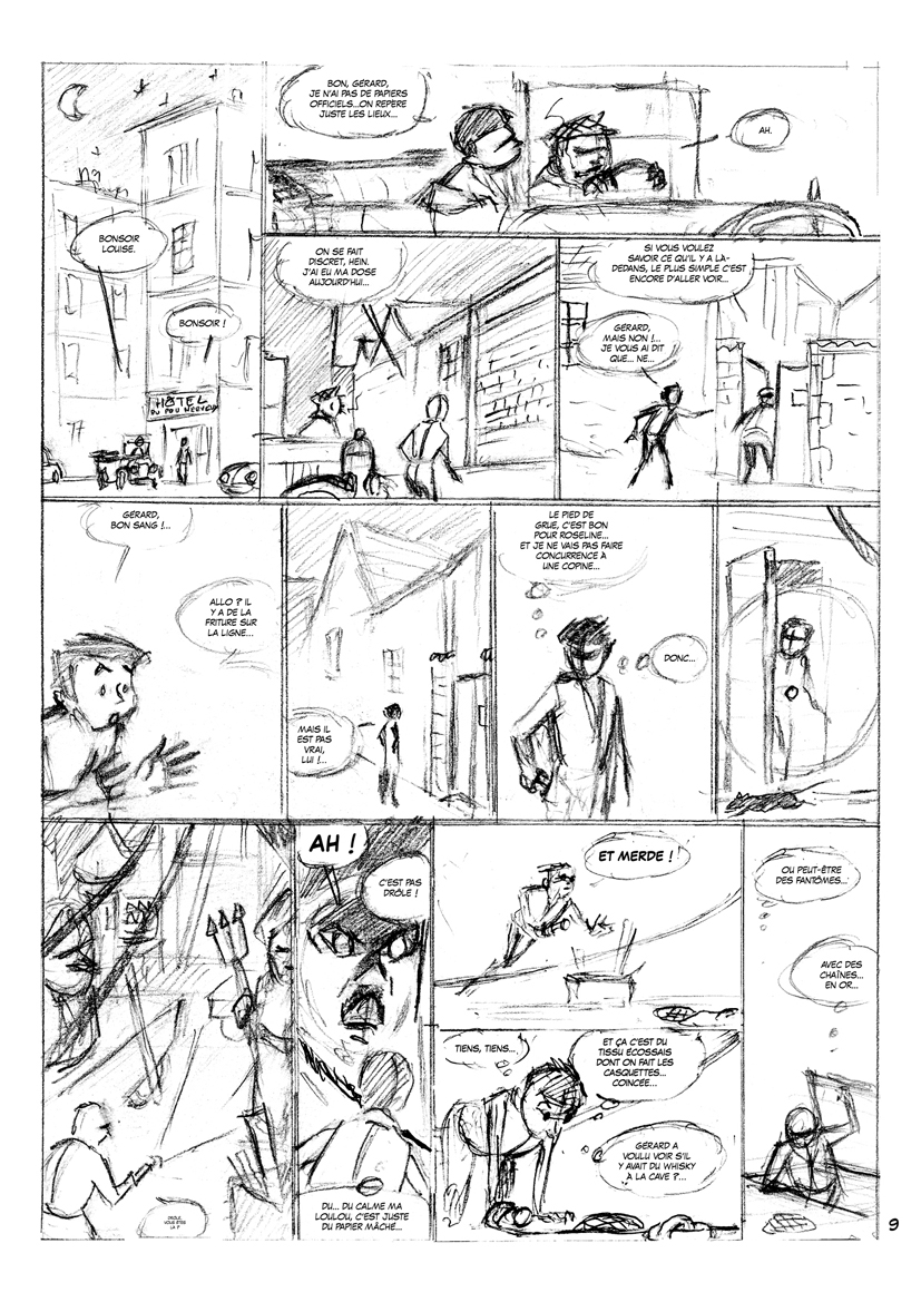 Louise Petibouchon, storyboard de la planche 10, seconde version © Eric Albert / Jean Depelley