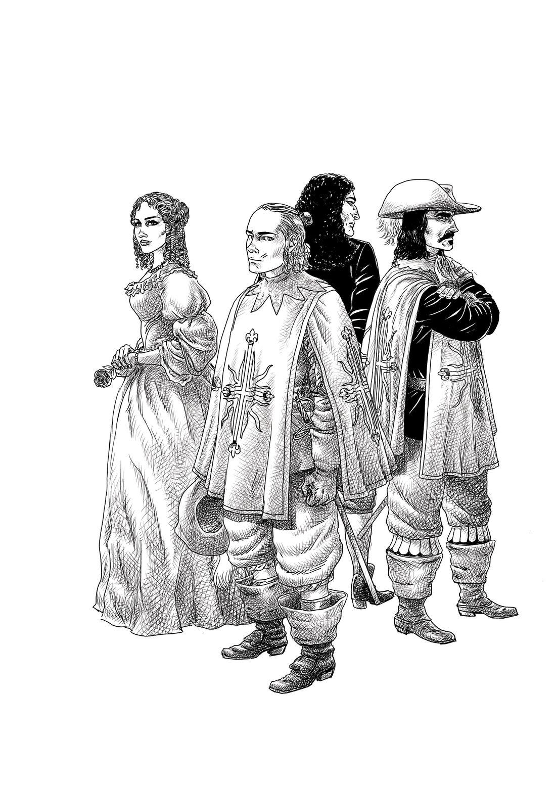 Mousquetaires, personnages © Florent Calvez