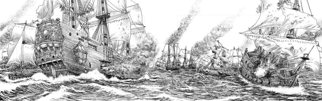 Mousquetaires, Batailel navale © Florent Calvez