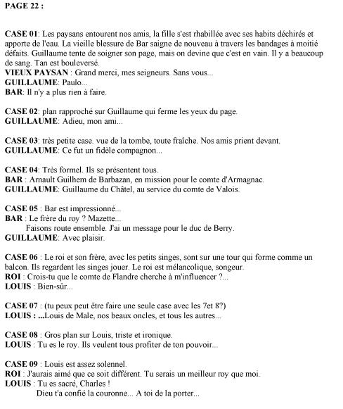 La Couronne de Verre, scénario de la planche 22 © Delcourt / Fance Richemond