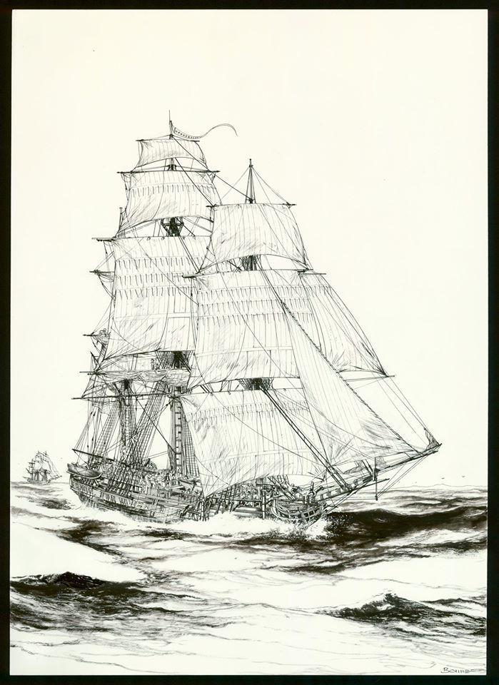 USS Co,stotition, work in progress du tome 1 © Glénat / Bonnet