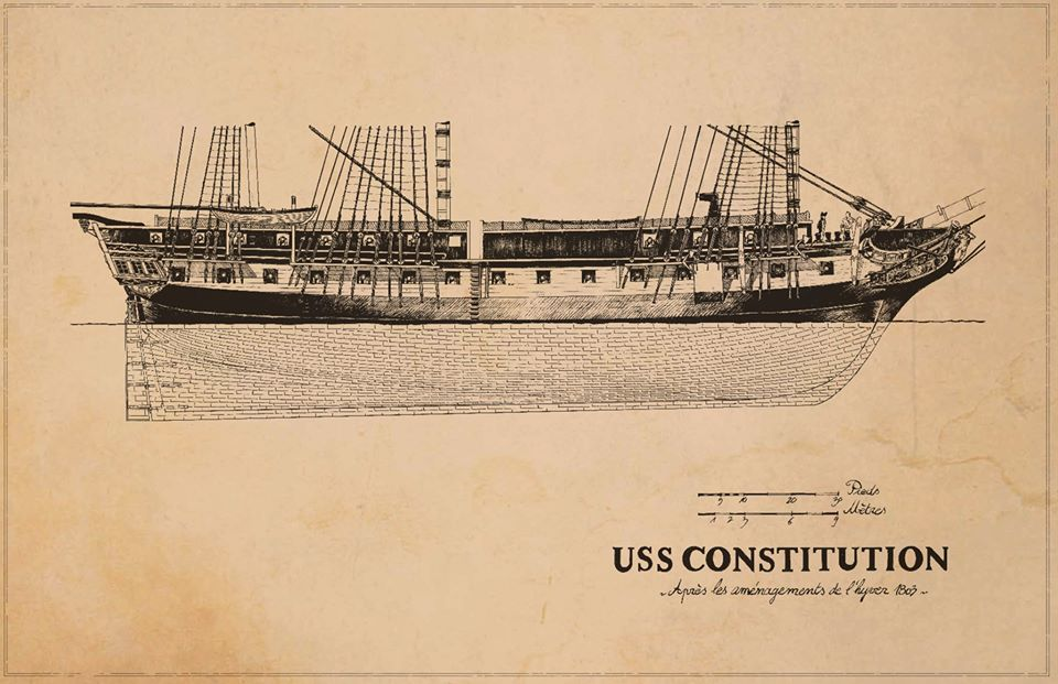 USS Constitution, page de garde, work in progress © Glénat / Bonnet