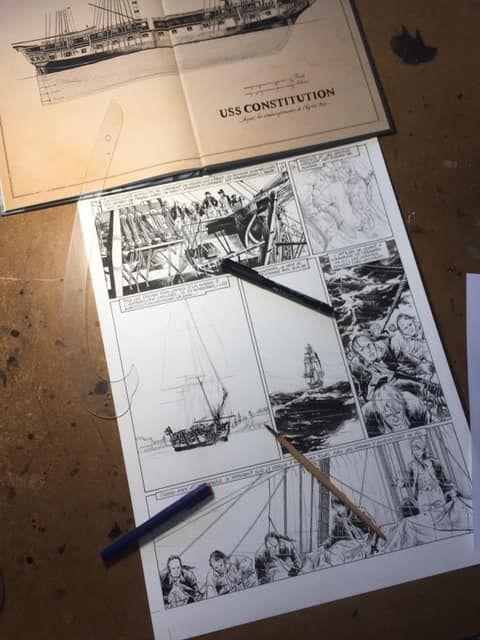 USS Constitution, work in progress du tome 1 © Bonnet