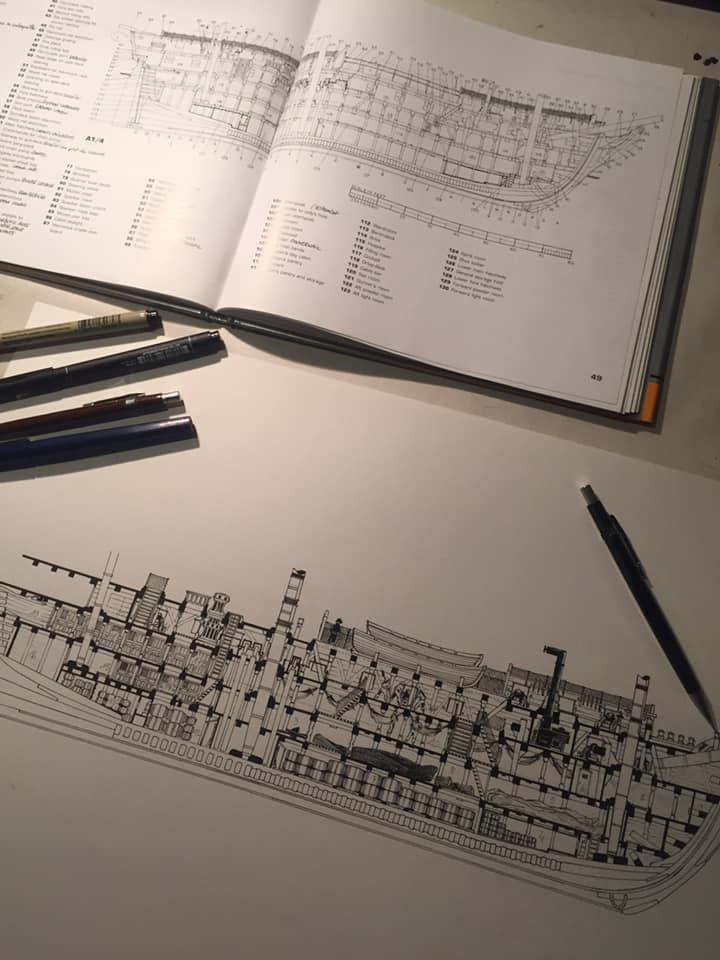 USS Constitution, page de garde, work in progress © Bonnet