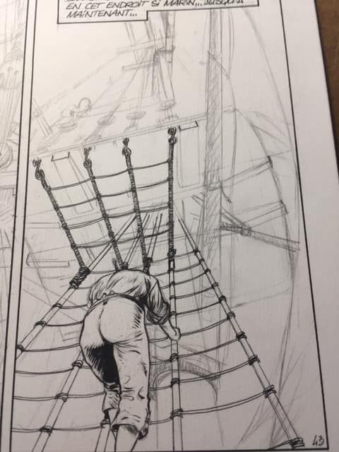 USS Constitution, case tome 1, work in progress © Bonnet