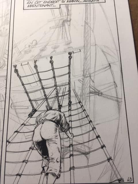 USS Constitution, case tome 1, work in progress © Bonnet