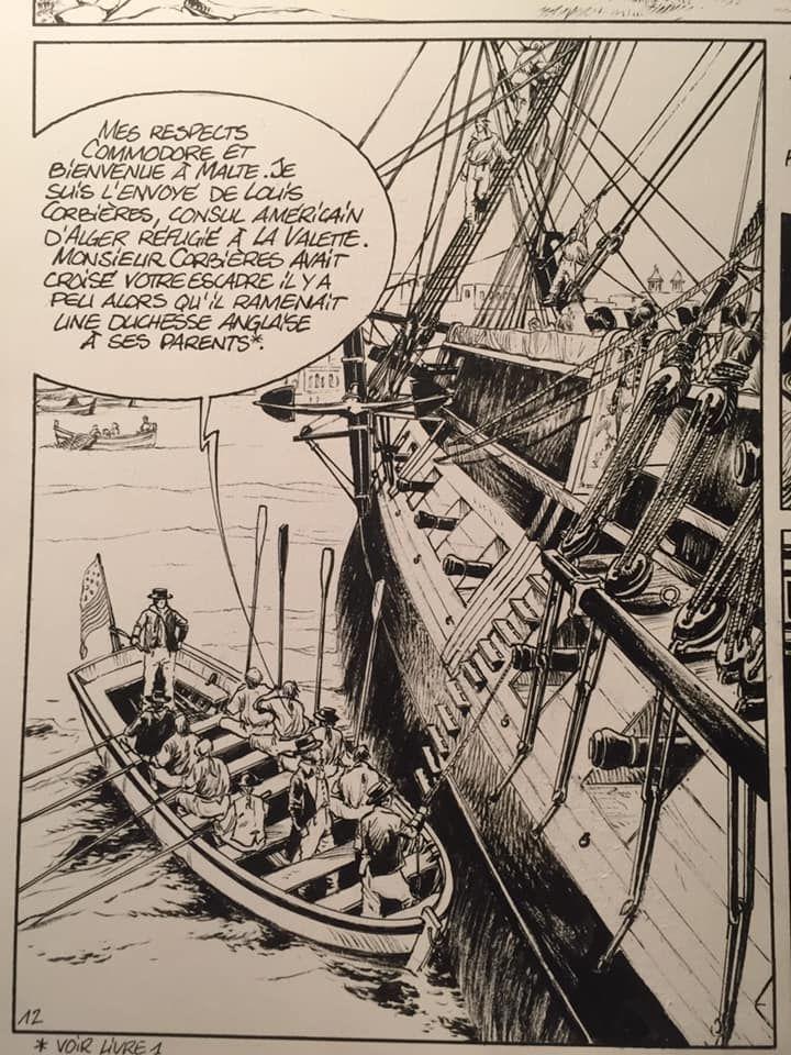 USS Constitution, case tome 1, work in progress © Glénat / Bonnet