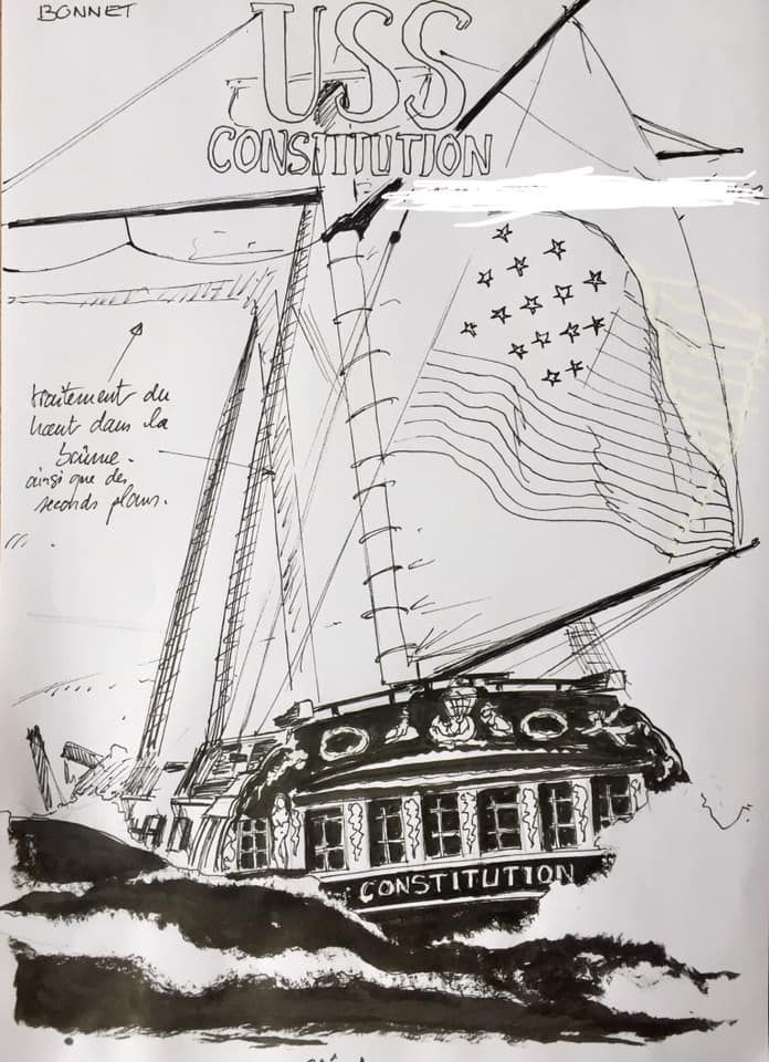 USS Constitution, recherche de couverture du tome 1 ©  Bonnet