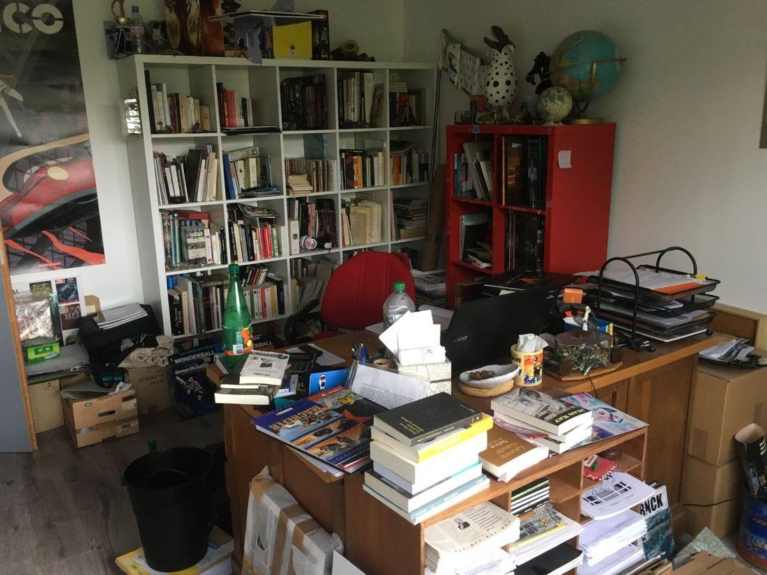 Nymphéas noirs, le bureau de Fred Duval  © Fred Duval