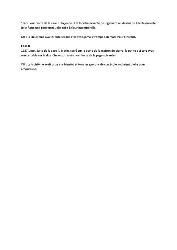 Nymphéas noirs, scénario de la page 2 (suite) © Fred Duval