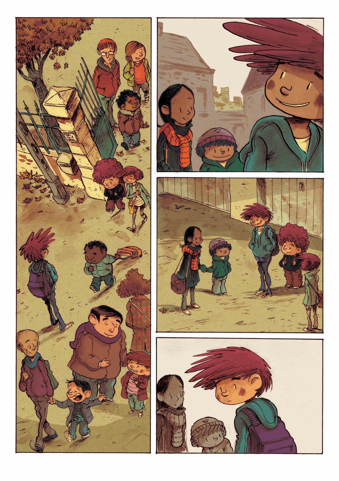 Supers, planche 24 du tome 2, aplats © Editions de la gouttiere / Dawid / Maupomé