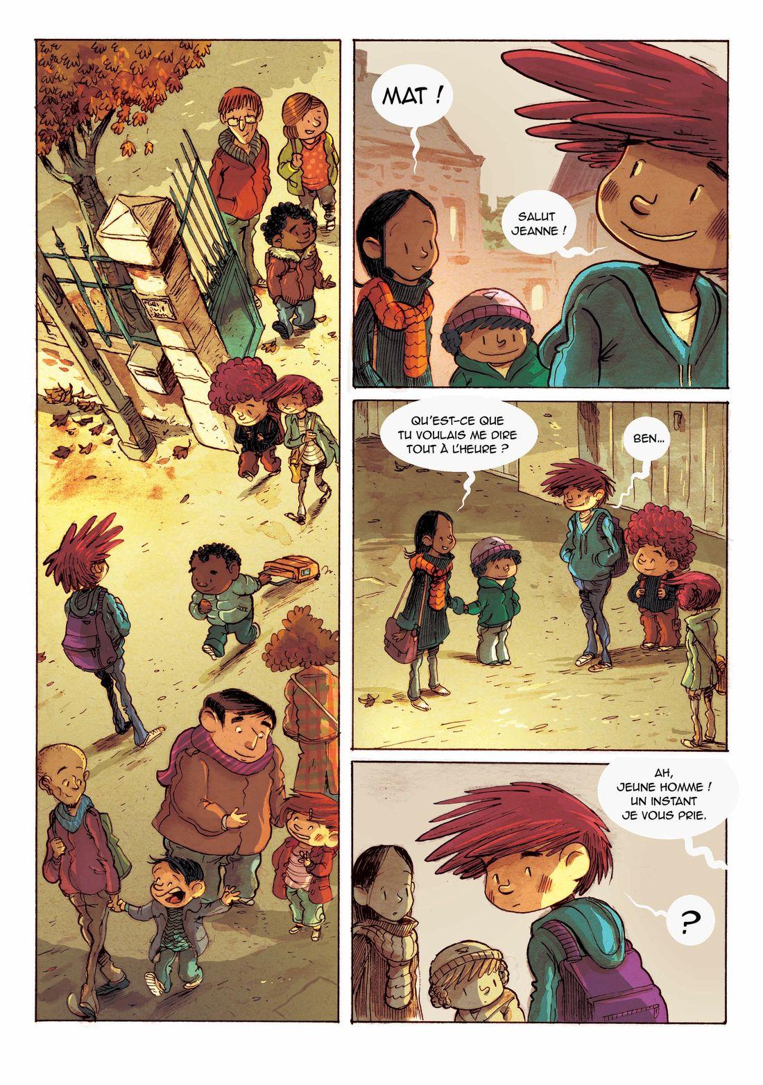 Supers, planche 24 du tome 2, ajout des bulles © Editions de la gouttiere / Dawid / Maupomé
