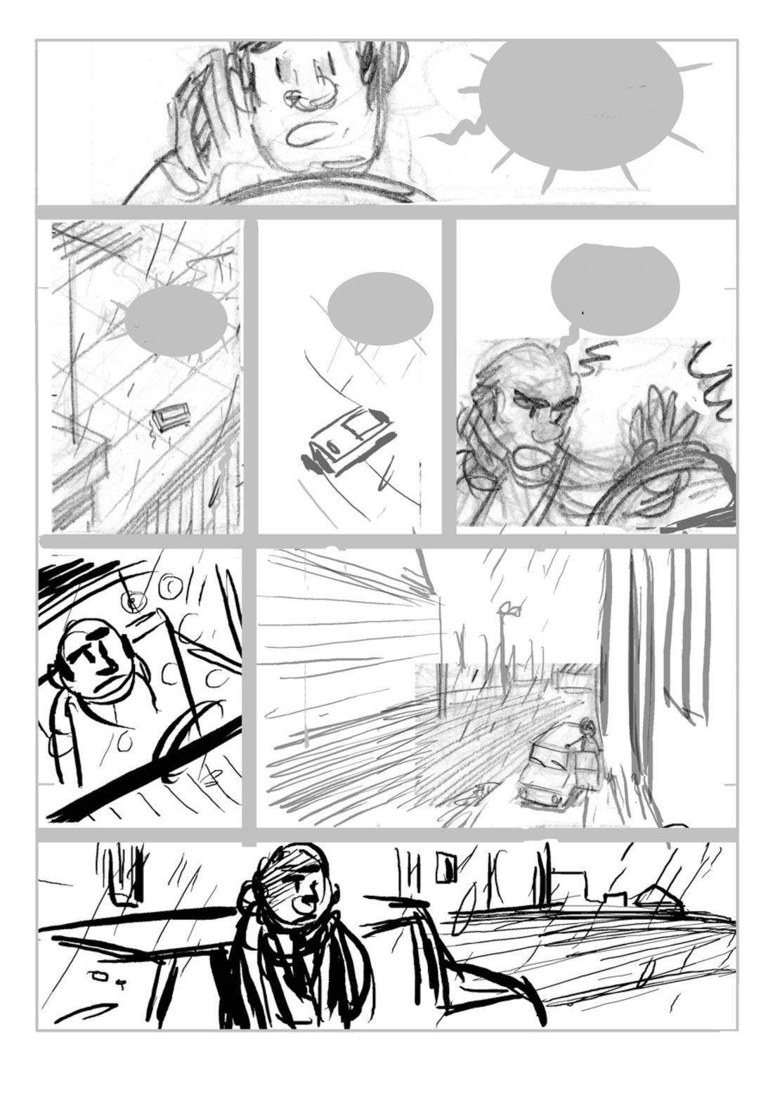 Supers, Rough de la planche 20 du tome 3, version 2 © Editions de la gouttiere / Dawid / Maupomé