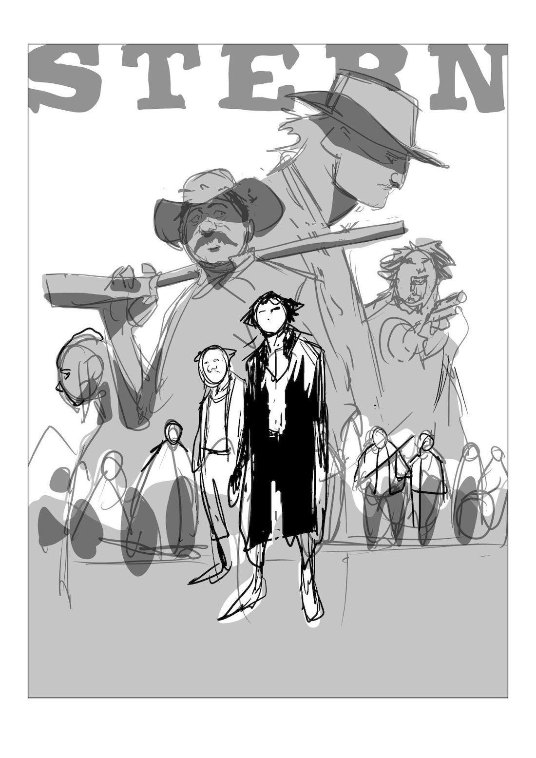 Stern, rough de la couverture du tome 3 © Maffre