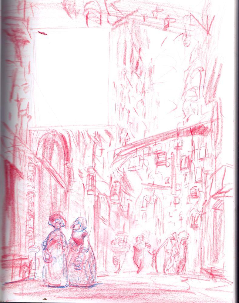 Le Boiseleur, rough de la page 9 © Hersent