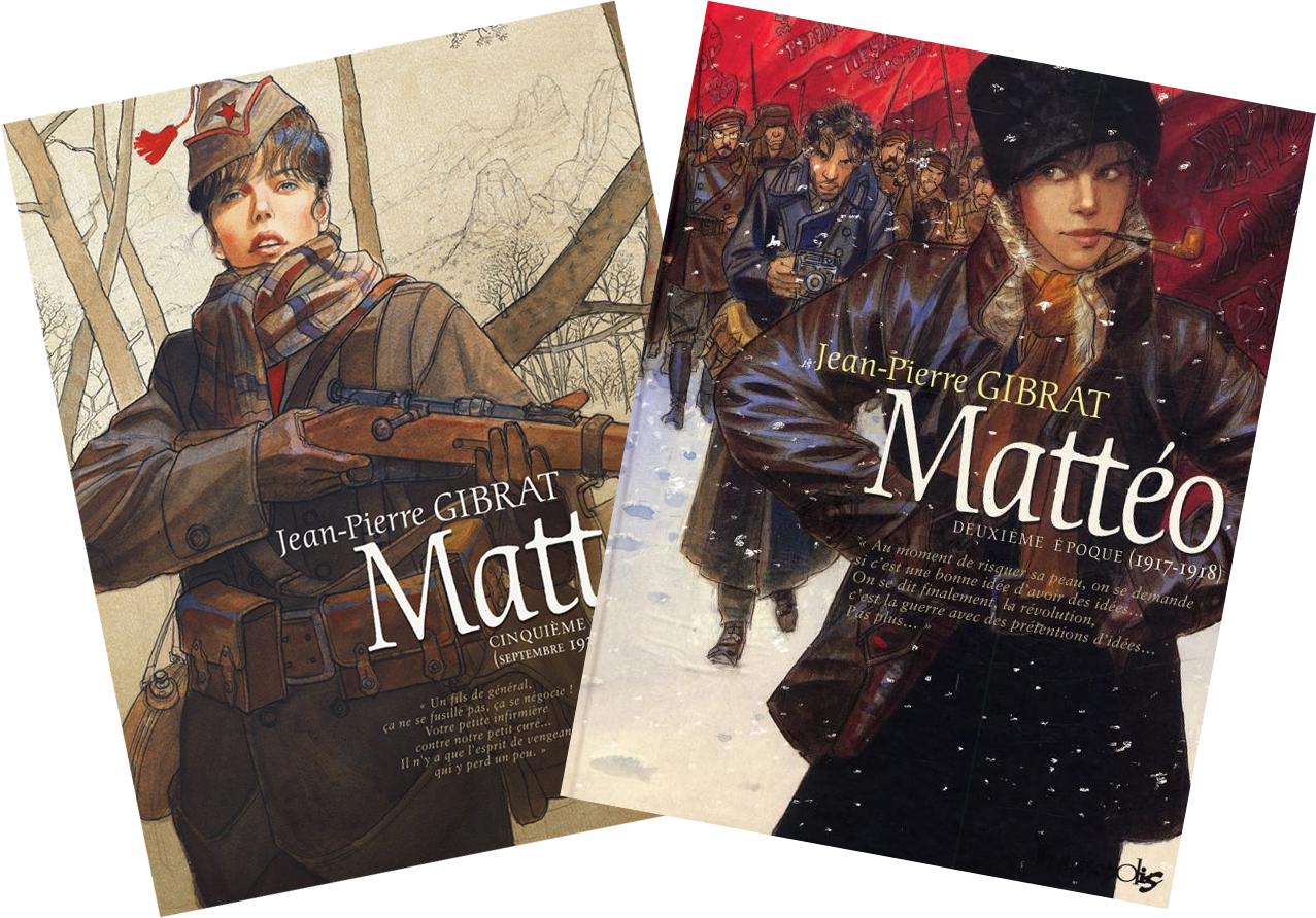 Couvertures des Tomes 5 et 2 de Mattéo @ Futuropolis / Gibrat