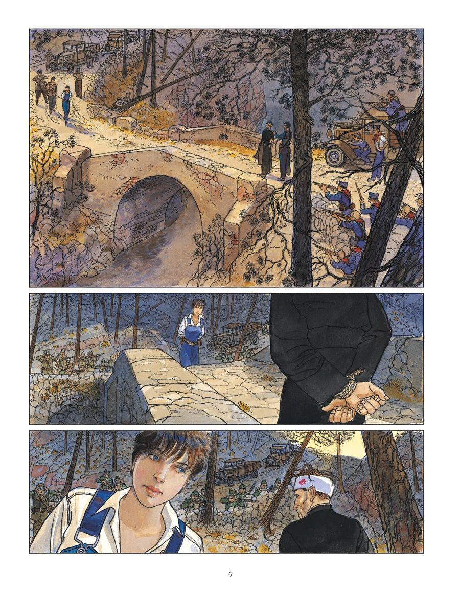 Page muette, extrait de Mattéo tome 5 © Futuropolis / Gibrat