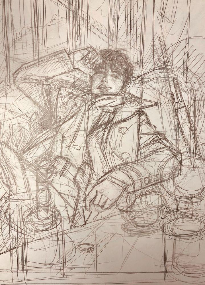 crayonné pour Mattéo © Gibrat