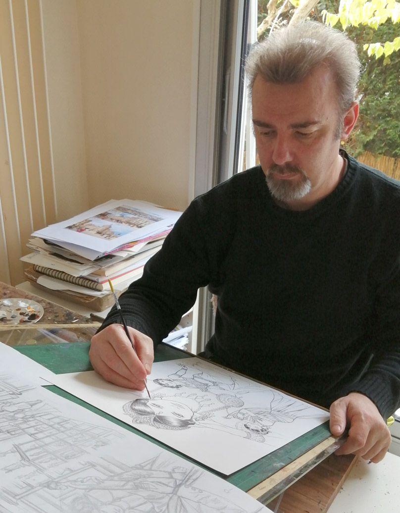 Laurent Paturaud dans ses oeuvres